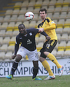 Dundee's Christian Nade and Livingston's Craig Sives - Livingston v Dundee - SPFL Championship at Almondvale <br />  - &copy; David Young - www.davidyoungphoto.co.uk - email: davidyoungphoto@gmail.com