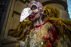 November 2, 2018 - SãO Paulo, São Paulo, Brazil - SAO PAULO SP, SP 02/11/2018 ZOMBIE WALK BRAZIL: People take part in the annual Zombie Walk on November 2, 2018, in São Paulo. People dress and use make-up to make themselves look like zombies and other characters from horror movies. (Credit Image: © Cris Faga/ZUMA Wire)