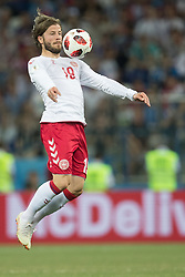 July 1, 2018 - Nizhny Novgorod, Russia - Lasse Schone of Denmark during the 2018 FIFA World Cup Russia Round of 16 match between Croatia and Denmark at Nizhny Novgorod Stadium on July 1, 2018 in Nizhny Novgorod, Russia. (Credit Image: © Foto Olimpik/NurPhoto via ZUMA Press)