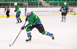 Koren Gal of HK SZ Olimpija during ice hockey match between  HK SZ Olimpija and HDD SIJ Acroni Jesenice in 23rd Round of AHL - Alps Hockey League 2017/18, on December 16, 2017 in Hala Tivoli, Ljubljana, Slovenia. Photo by Vid Ponikvar / Sportida