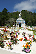 Cemetary and last kings (Maputeoa 1868) tomb, Mangareva, Gambier Islands, French Polynesia<br />
