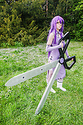 kill sheele from akame ga. Cosplayer at Animefest 2015 in the city of Brno, czech republic.