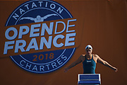 Fanny Deberghes (FRA) competes on Women's 50 m Breaststroke during the French Open 2018, at Aquatic Center Odyssée in Chartres, France on July 7th to 8th, 2018 - Photo Stephane Kempinaire / KMSP / ProSportsImages / DPPI