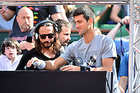 Novak DJOKOVIC / Bob SINCLAIR - 23.05.2015 - Tennis - Journee des enfants - Roland Garros 2015<br /> Photo : David Winter / Icon Sport