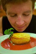 Hat Chawaeng. Betelnut restaurant, Californiathai fusion cuisine. Goatcheesecake with ricotta, marscarpone, cinnamon cashew crust..