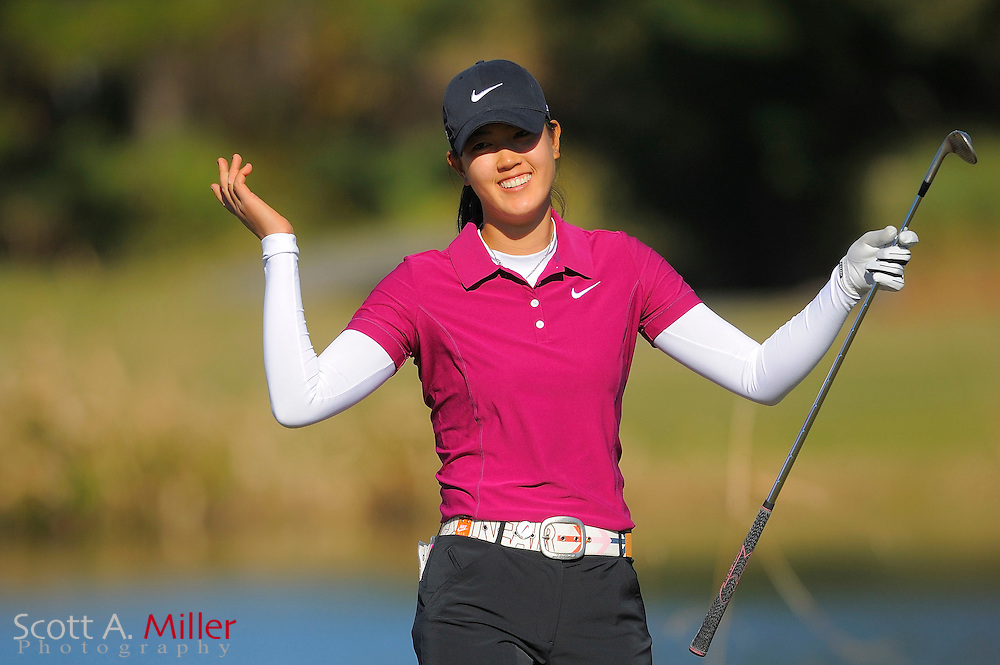 Dec. 7, 2008; Daytona, FL, USA; Michelle Wie during the final round of LPGA Qualifying School on the Champions Course at LPGA International. .©2008 Scott A. Miller