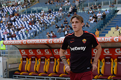 October 20, 2018 - Rome, Lazio, Italy - Nicolò Zaniolo during the Italian Serie A football match between A.S. Roma and Spal at the Olympic Stadium in Rome, on october 20, 2018. (Credit Image: © Silvia Lore/NurPhoto via ZUMA Press)