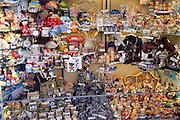 Shop window display souvenirs, Scarborough, Yorkshire, England