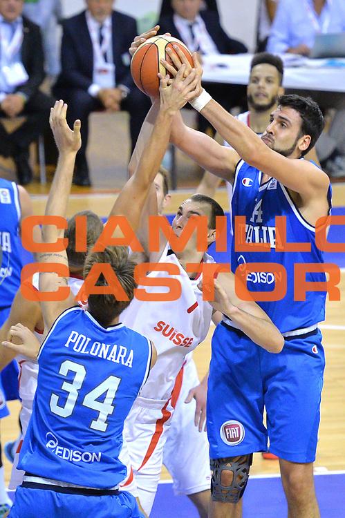 DESCRIZIONE : Bellinzona Qualificazione Eurobasket 2015 Qualifying Round Eurobasket 2015 Svizzera Italia Switzerland Italy <br /> GIOCATORE : Riccardo Cervi<br /> CATEGORIA : Rimbalzo<br /> EVENTO : Bellinzona Qualificazione Eurobasket 2015 Qualifying Round Eurobasket 2015 Svizzera Italia Switzerland Italy <br /> GARA : Svizzera Italia Switzerland Italy <br /> DATA : 27/08/2014 <br /> SPORT : Pallacanestro <br /> AUTORE : Agenzia Ciamillo-Castoria/Mancini Ivan<br /> Galleria: Fip Nazionali 2014 Fotonotizia: Bellinzona Qualificazione Eurobasket 2015 Qualifying Round Eurobasket 2015 Svizzera Italia Switzerland Italy <br /> Predefinita :