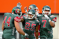15.07.2011, Ernst Happel Stadion, Wien, AUT, American Football WM 2011, Japan (JAP) vs Mexico (MEX), im Bild Castillo Juan carlos (Mexico, #44, RB), Viamontes Diego jair (Mexico, #25, WR) and Mateos Raul (Mexico, #7, QB)  // during the American Football World Championship 2011 game, Japan vs Mexico, at Ernst Happel Stadion, Wien, 2011-07-15, EXPA Pictures © 2011, PhotoCredit: EXPA/ T. Haumer