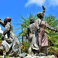 Three Queens Statues in Charlotte Amalie, Saint Thomas <br />