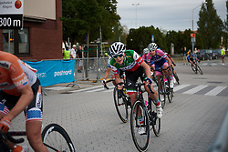 Marta Cavalli (ITA) with one lap to go at Postnord Vårgårda West Sweden Road Race 2018, a 141 km road race in Vårgårda, Sweden on August 13, 2018. Photo by Sean Robinson/velofocus.com