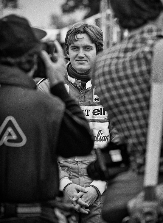 American Formula One driver Eddie Cheever saw his best opportunity for success as teammate to Alain Prost in the works Renault team, seen here in 1983. He would score a third in France and a second in Canada.<br />