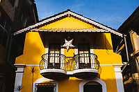 Old houses in the Latin Quarter of Panjim, India.