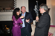 NANCY DELL D'OLIO; LORD MONSON;  FATHER MICHAEL SEED; , Drinks party given by Basia and Richard Briggs,  Chelsea. London. SW3. 13 February 2014.