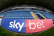 Sky Bet branding on hoarding ahead of the EFL Sky Bet League 1 match between Gillingham and Coventry City at the MEMS Priestfield Stadium, Gillingham, England on 25 August 2018.