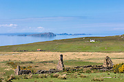 Derelict cottage in ruins at Achiltibuie by The Summer Isles on the West Coast of Scotland