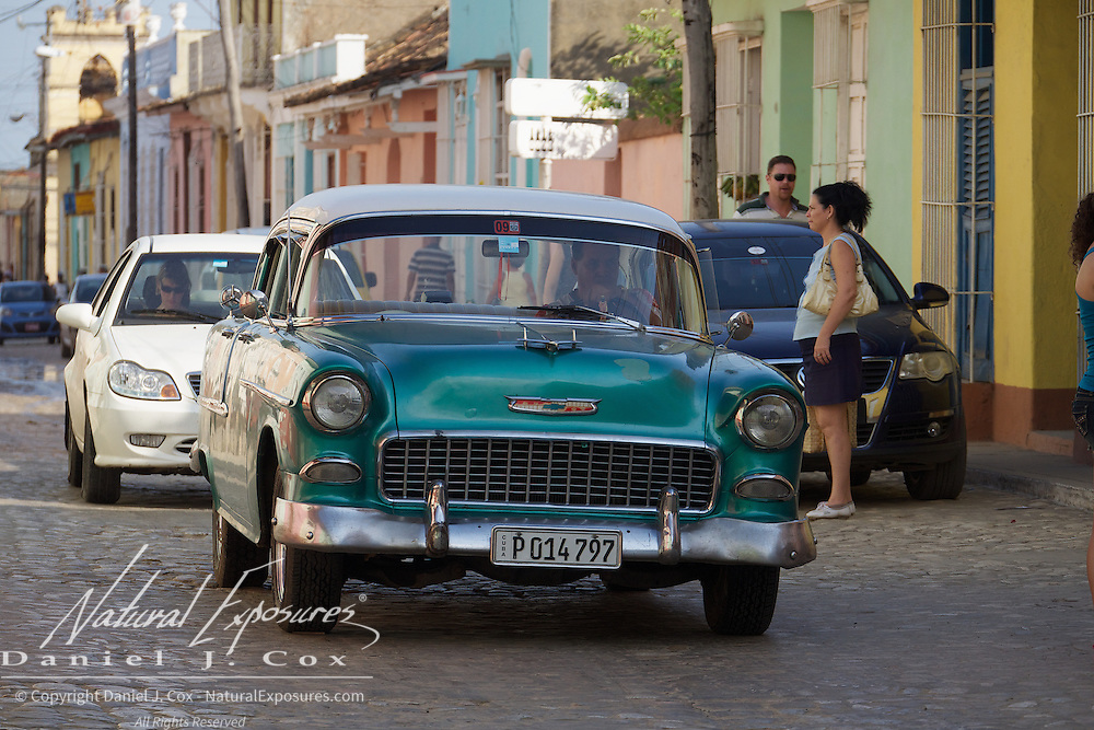 Vintage Chevy on the streets of Havana, Cuba