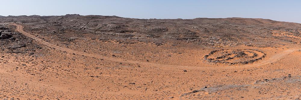 Schlüsselgrab in der algerischen Sahara