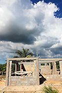House construction in Cabot Cruz, Granma, Cuba.