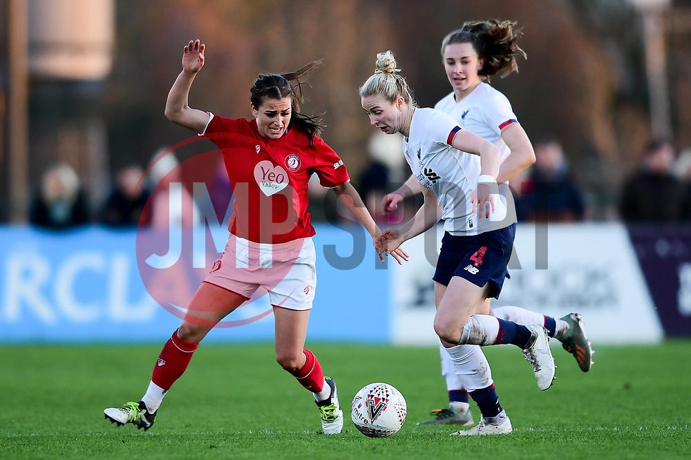 Megan Wynne of Bristol City Women marks l4, - Mandatory by-line: Ryan Hiscott/JMP - 19/01/2020 - FOOTBALL - Stoke Gifford Stadium - Bristol, England - Bristol City Women v Liverpool Women - Barclays FA Women's Super League