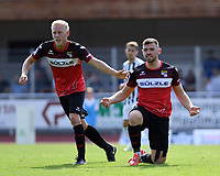 Fussball Regionalliga Suedwest 2019/2020    14.09.2019 TSG Balingen - SC Freiburg II Enttaeuschung Balingen; Lukas Foelsch (li) und Hannes Scherer