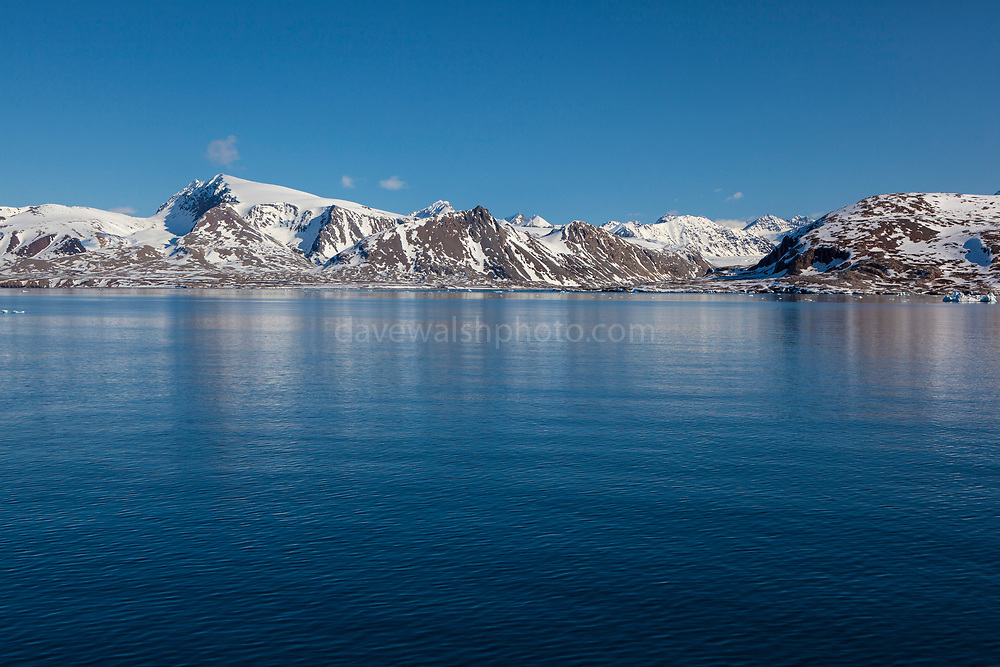 Coastal mountains in Kongsfjord, Ny Alesund, Svalbard