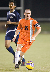 Virginia Cavaliers MF Will Hall (16)..The #4 ranked Virginia Cavaliers men's soccer team faced the Mount Saint Mary's Mountaineers at Klockner Stadium in Charlottesville, VA on September 25, 2007.