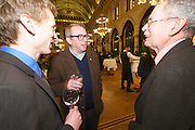 Vienna, Austria. Cocktail reception hosted by Mayor Michael Häupl at City Hall for international scientists and researchers living and working in Vienna.<br /> Alexander van der Bellen, Commissioner for Universities and Research (r.)