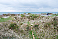 Bomb crater at Point du Hoc, the strategic headland between Omaha Beach and Utah Beach, Normandy, France © Rudolf Abraham