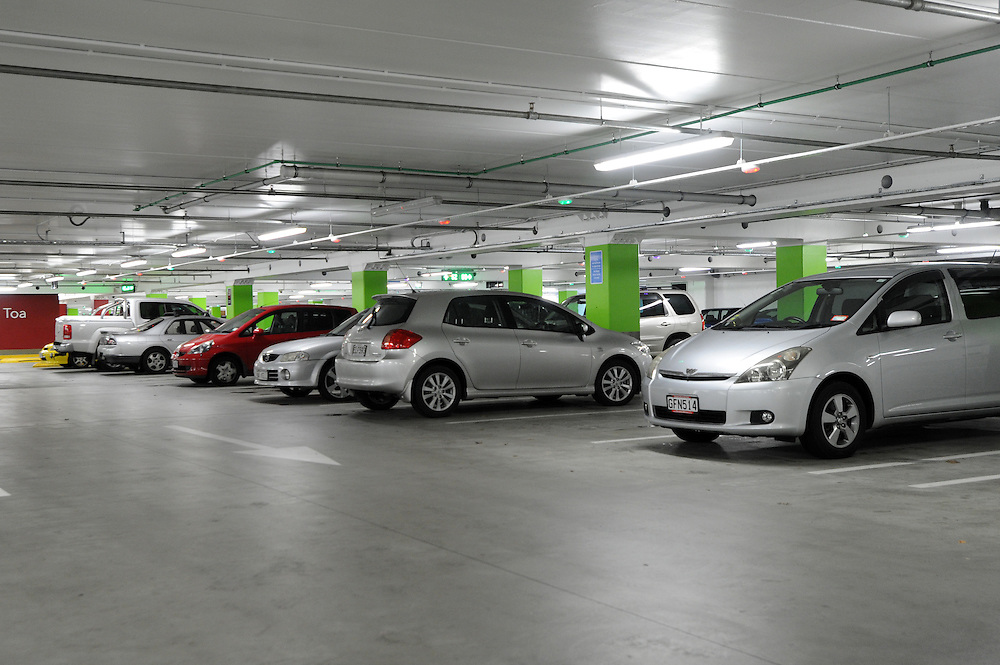 Underground car park, Te Awa shopping centre, Te Rapa, Hamilton, New Zealand, Wednesday, June 20, 2012. Credit:SNPA / Ross Setford