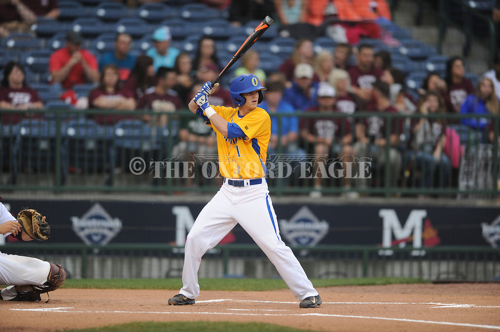Oxford High's Matthew Guyton vs. George County in the MHSAA Class 5A state championship at Trustmark Park in Pearl, Miss. on Thursday, May 21, 2015. Oxford won 9-0 to win its second state title in baseball and its first since 2005.