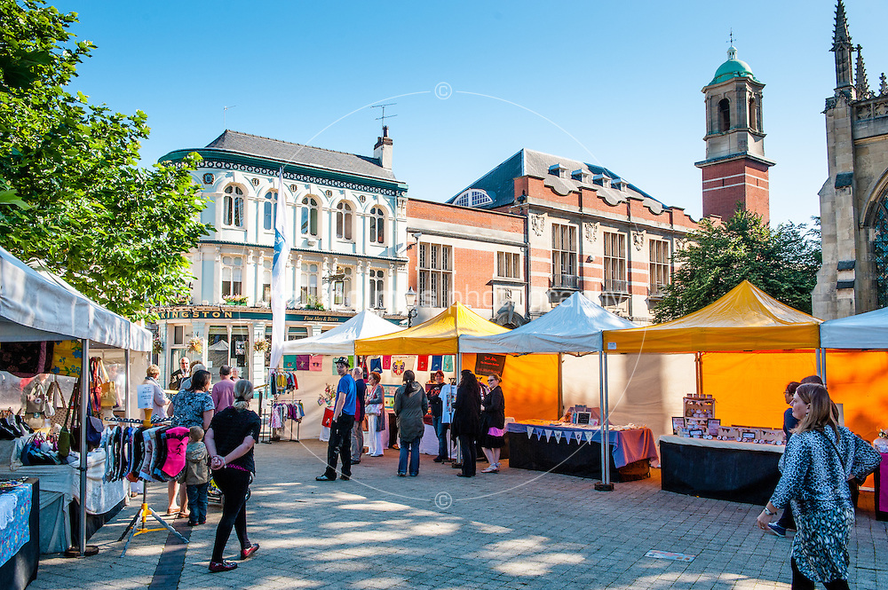 The inaugural outdoor Trinity Market, Friday 31 August, 2012 held at Hull's historic market place.