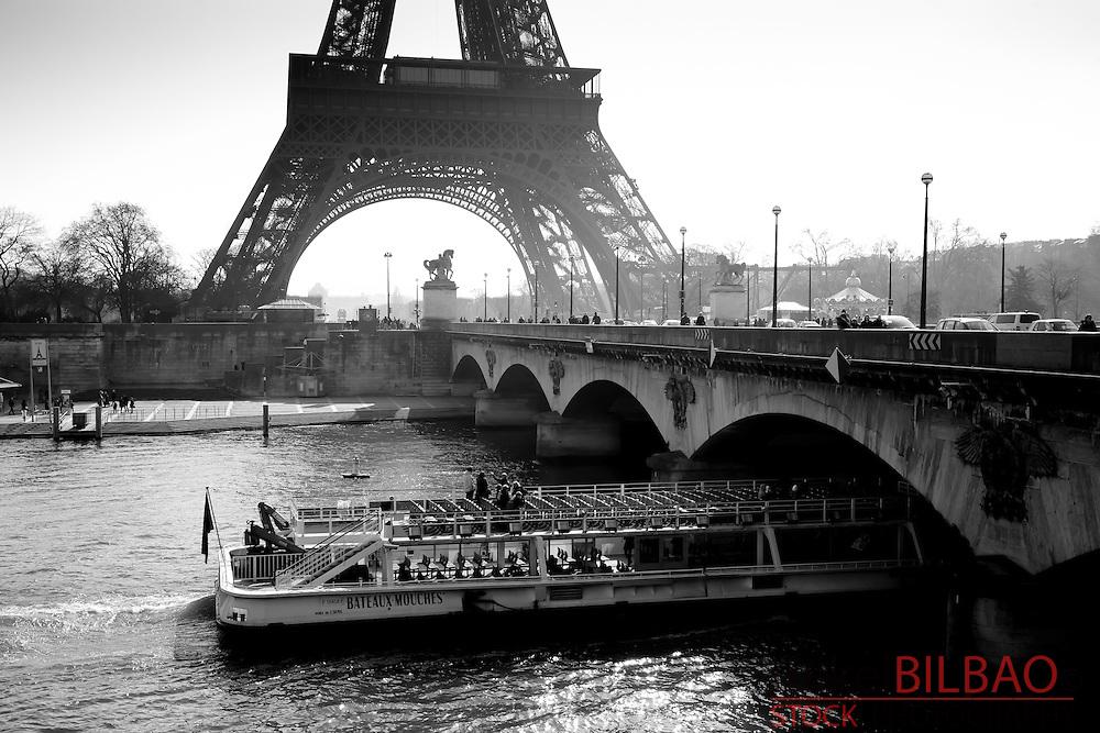 Eiffel Tower and Seine river.<br /> Paris, France.