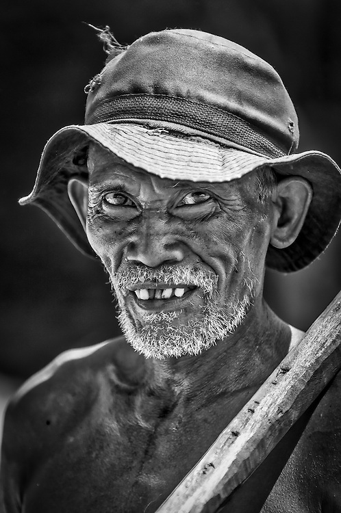 Portrait of a copra farmer in North Sulawesi, Indonesia