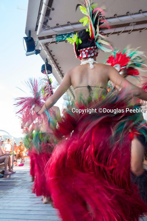 Rarotongan Polynesian, dance troup, Paul Gauguin cruise ship, Cook Islands, South Pacific