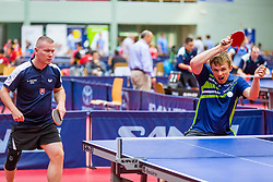 (Team SVK) CSEJTEY Richard and VAKARASH Roman in action during 15th Slovenia Open - Thermana Lasko 2018 Table Tennis for the Disabled, on May 11, 2018 in Dvorana Tri Lilije, Lasko, Slovenia. Photo by Ziga Zupan / Sportida