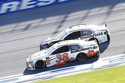 April 29, 2018 - Talladega, Alabama, United States of America - David Ragan (38) and Aric Almirola (10) battle for position during the GEICO 500 at Talladega Superspeedway in Talladega, Alabama. (Credit Image: © Chris Owens Asp Inc/ASP via ZUMA Wire)