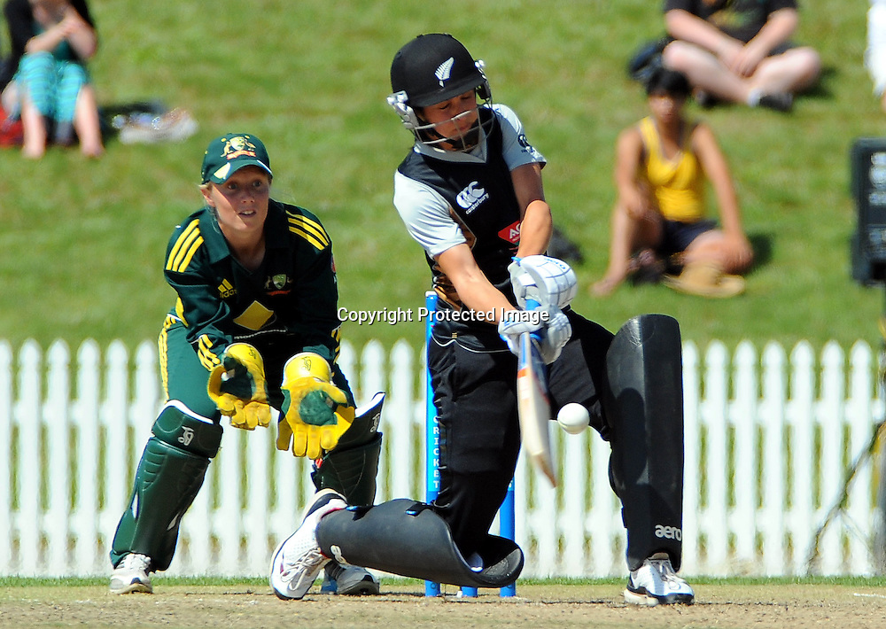 White Ferns player Sara McGlashan. New Zealand White Ferns v Australia. Women's Rose Bowl twenty/20 cricket. Saxton Oval, Nelson, New Zealand. Thursday 30 December 2010. Photo: Chris Symes / www.photosport.co.nz