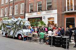 Atmosphere at the launch of the new collection from Limoland held at Anderson & Sheppard's Haberdashery, 17 Clifford Street,London on 16th June 2014.