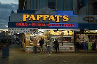 Pappats at night On the Boardwalk. Atlantic City, New Jersey