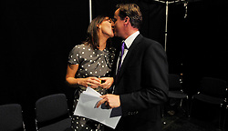 Leader of the Conservative Party David Cameron gets a good luck kiss from his wife Samantha in the green room at the Manchester Central before he gives his speech to the   Conservative Party Conference, Thursday October 8 , 2009. Photo By Andrew Parsons / i-Images.