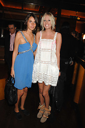 Left to right, MARINA HANBURY and the HON.SOPHIA HESKETH at a party to celebrate the launch of Cavalli Selection - the first ever wine from Casa Cavalli, held at 17 Berkeley Street, London W1 on 29th May 2008.<br />