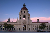 Pasadena City Hall at Dusk, Pasadena, California