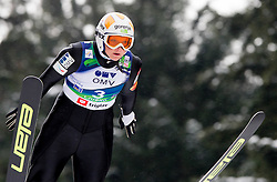 Manja Pograjc of Slovenia during Normal Hill Individual Competition at FIS World Cup Ski jumping Ladies Ljubno 2012, on February 11, 2012 in Ljubno ob Savinji, Slovenia. (Photo By Vid Ponikvar / Sportida.com)