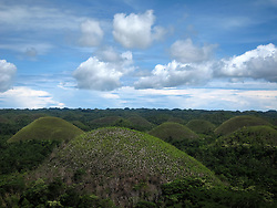 Lush green rolling landscape of the Chocolate Hills in Carmen, Bohol Island, Phillippines, Southeast Asia