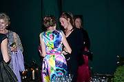 LADY SPENCER-CHURCHILL; KATE GOLDSMITH, The Ormeley dinner in aid of the Ecology Trust and the Aspinall Foundation. Ormeley Lodge. Richmond. London. 29 April 2009