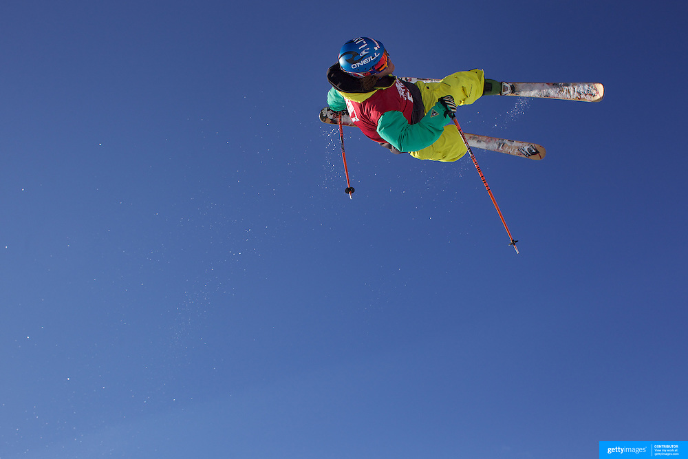 Nils Lauper, Switzerland, in action in the Halfpipe Finals during The North Face Freeski Open at Snow Park, Wanaka, New Zealand, 3rd September 2011. Photo Tim Clayton..