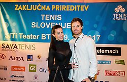 Karin Lukac and Blaz Kavcic during Slovenian Tennis personality of the year 2017 annual awards presented by Slovene Tennis Association Tenis Slovenija, on November 29, 2017 in Siti Teater, Ljubljana, Slovenia. Photo by Vid Ponikvar / Sportida