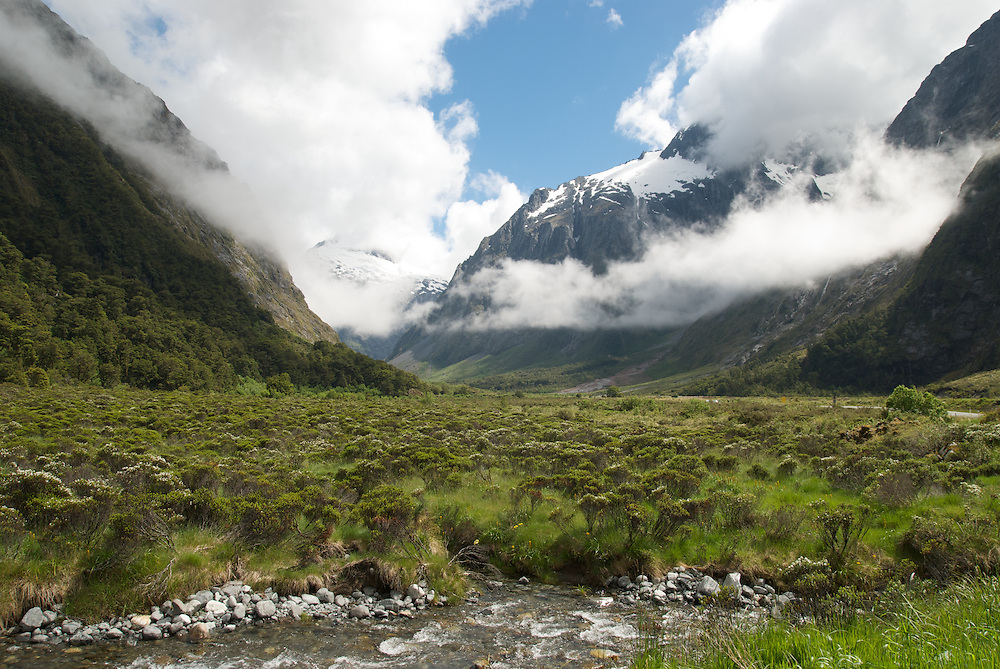 Clouds over the Milford sound road.